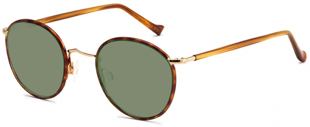 moscot zev sun blonde gold side