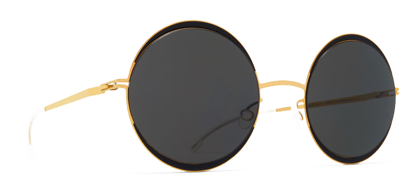 mykita sun iris gold jet black side
