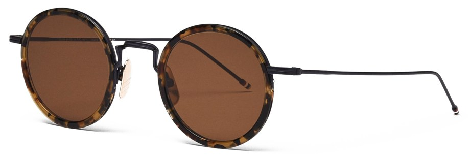 thom browne tb906 tortoise sunglasses 3:4 side