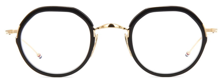 thom-browne-tb911 black and gold sunglasses
