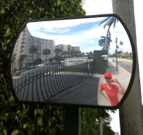 Snap-happy Katie capturing her photo-jog along North Flagner Drive, West Palm, Florida