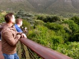 Mike and Gareth enjoy the view from the Boomslang Tree Canopy
