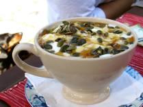 Yoghurt, muesli, honey and fruit