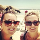 Tarryn and I at Llududno beach