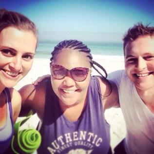 Mike, Siviwe and I post-yoga, feeling great