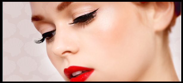 We apply the lashes delicately