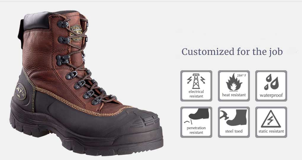 customized for the job boots