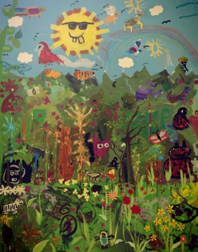 Camp Indigo Mural