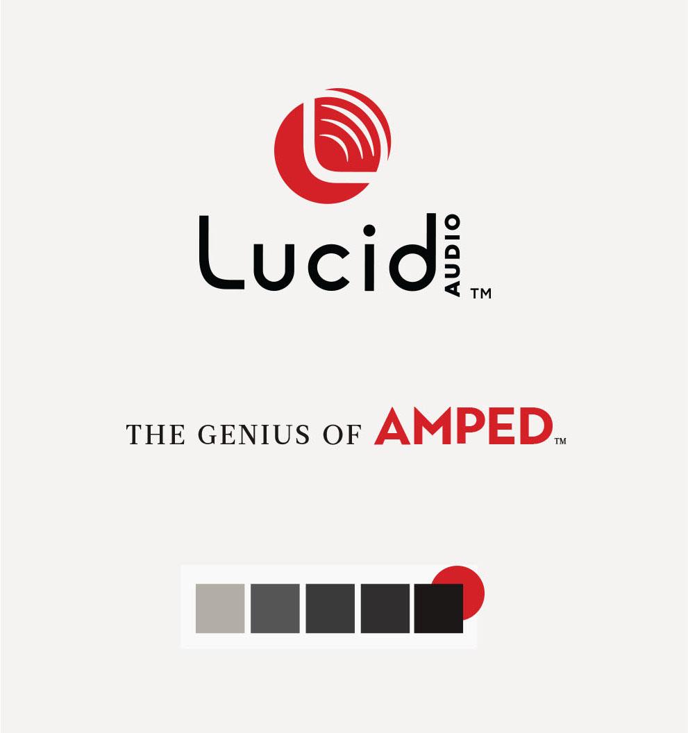 Lucid Audio Branding, Design, and Color Palette