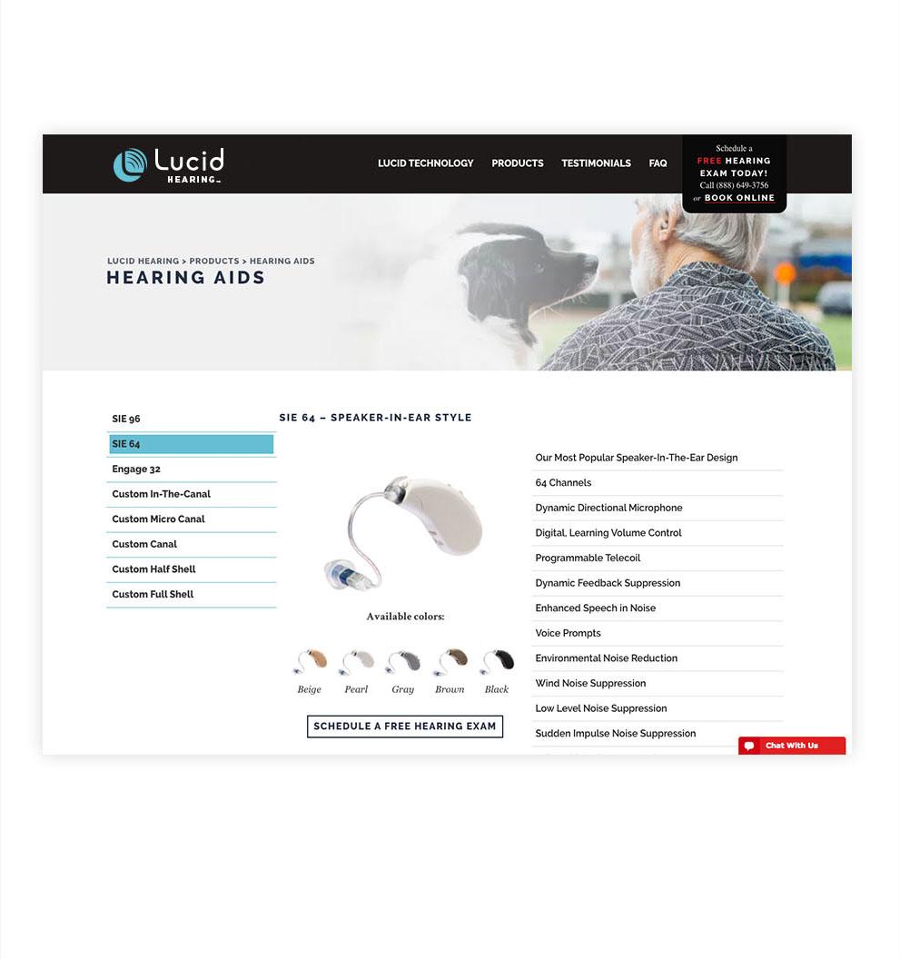 Lucid Hearing rebrand and web design improvements