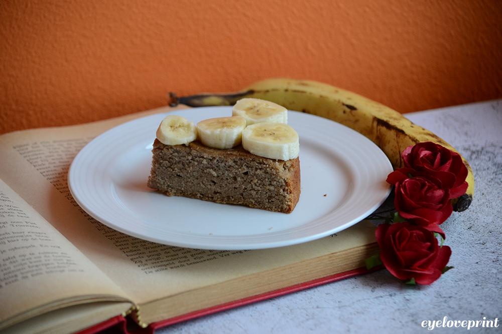 Vegan Kaneelcake met Banaan