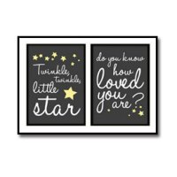 Twinkle Twinkle Little Star Nursery Poster
