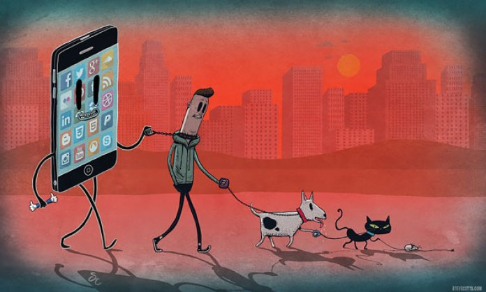 AD-Satirical-Illustrations-Show-Our-Addiction-To-Technology-23