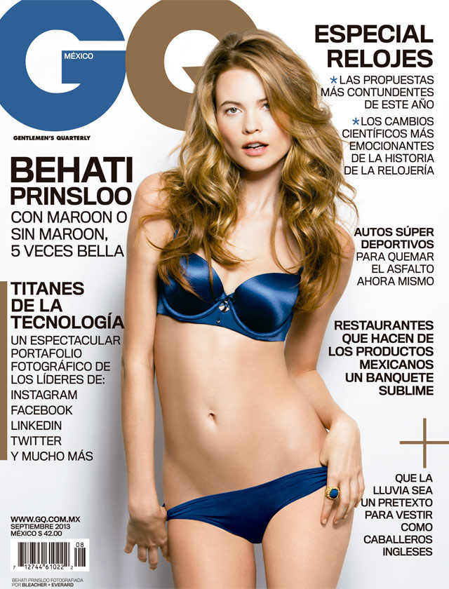 Beautiful-Victorias-Secret-Blonde-Model-Behati-Prinsloo-From-Namibia-Africa-Modeling-For-The-Cover-Of-GQ-Mexico-Magazine-Modeling-In-Sexy-Blue-Lingerie