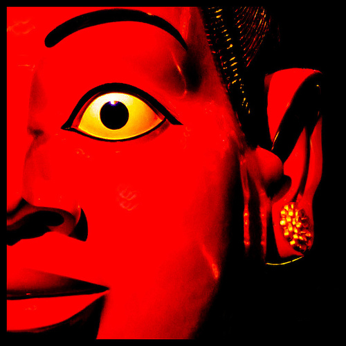 yellow eye of red god