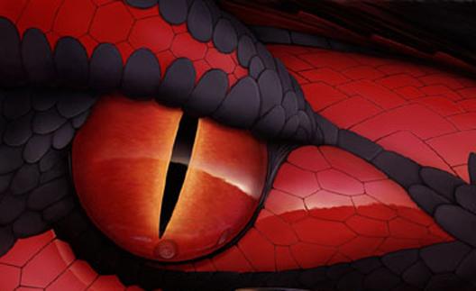 red snake eye