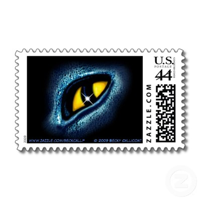 cat eye postage stamp