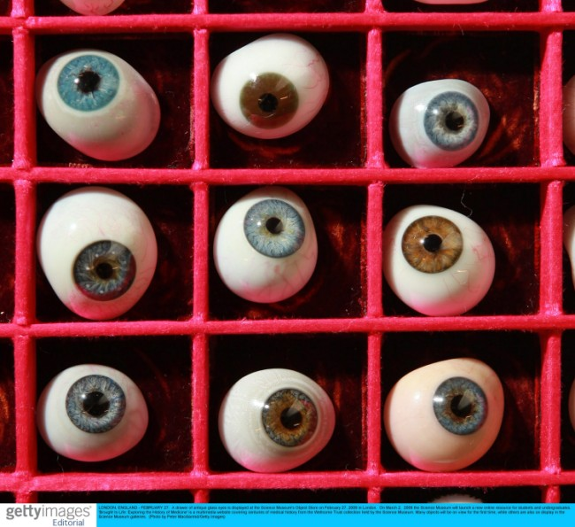 antique glass eyes