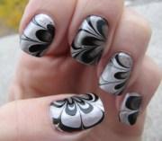 black and silver manicure eyemasq