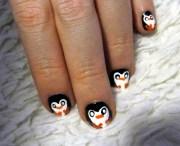 penguin nail art eyemasq