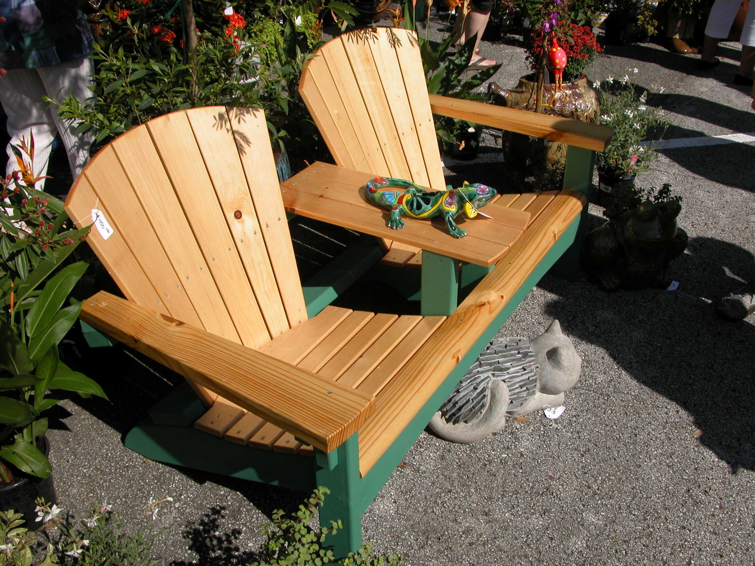 Wood Double Adirondack Chair Plans PDF Plans