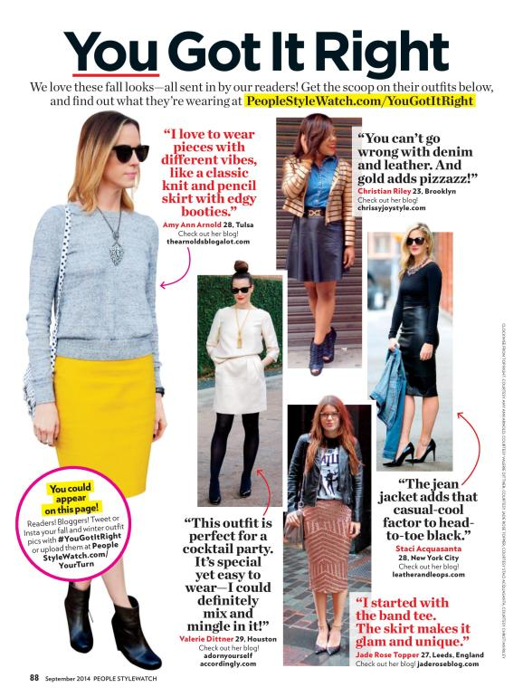 """People Style Watch Magazine- """"You Got It Right"""""""