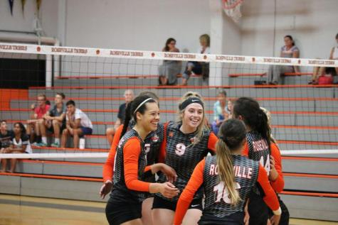 Varsity volleyball defeats Woodcreek in four sets