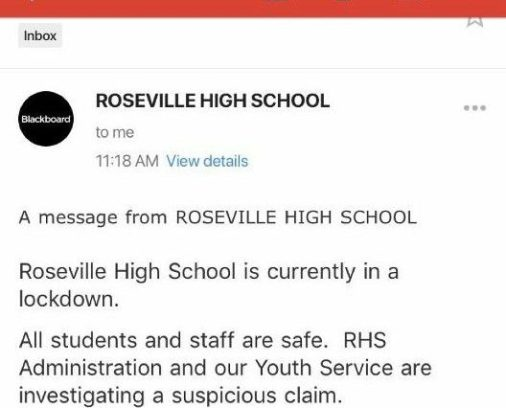 "RHS on lockdown while administrators investigate ""suspicious threat"""