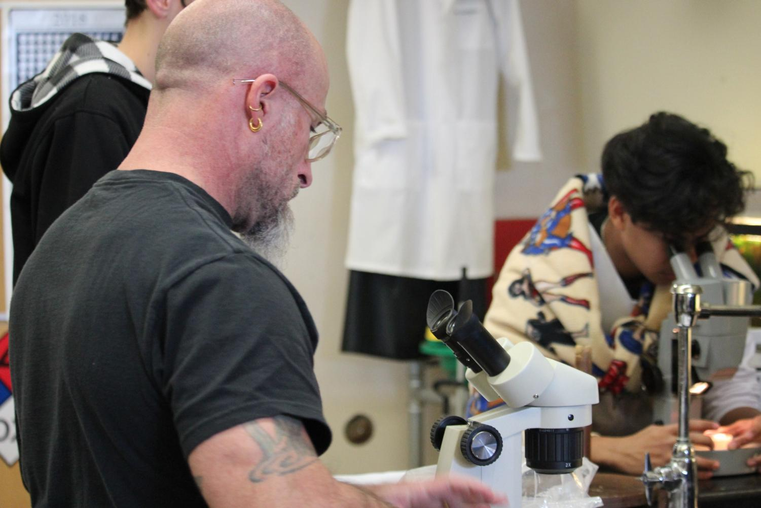 Effective next school year, the NGSS pathway will shift the science outline to follow a Biology, Physics, then Chemistry path. Science teacher CJ Addington is currently the only teacher at RHS with the credentials to teach Physics.