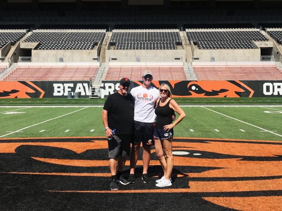 Tommy Spencer and his family visited Oregon State over the summer. Spencer verbally committed to play football at Oregon State after being recruited by Fresno State, San Diego State and Oregon State.Growing up, Spencer focused on basketball, but now his priorities have changed.