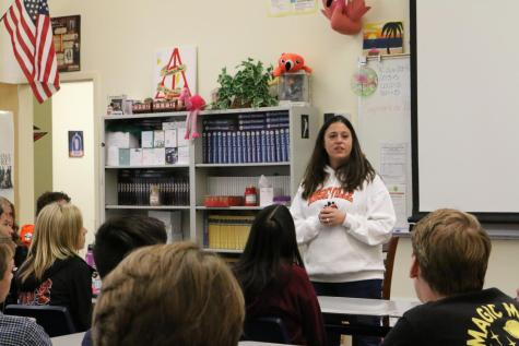 English teacher Jamie Handling embraces her connection with her students as posts weekly videos offering life lessons and advice. Handling hopes this weekly tradition will resonate with students for years to come.