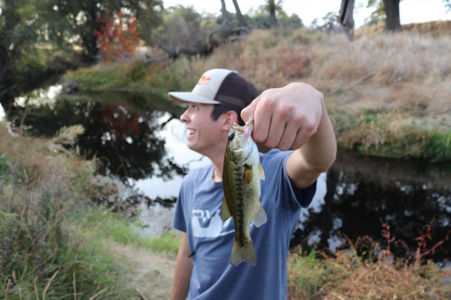 Fishing is a family habit. Leahy, who now commonly fishes for sport, learned through his dad.