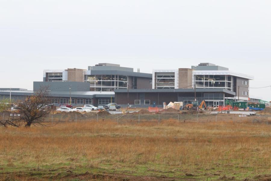 Pictured, West Park High School approaches completion in time for next school year's open to incoming freshmen and sophomores. Roseville and Oakmont High School will lose parts of their current attendance zone.