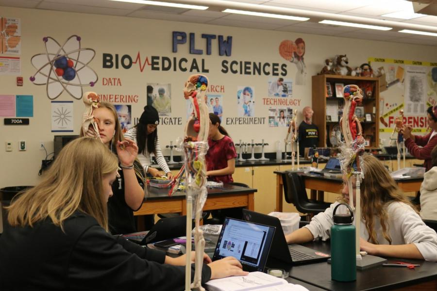 With the switch to distance learning, the capstone course for the Biomedical Program, Biomedical Innovations, has undergone several changes in order to finish out the school year. Due to COVID-19, students have had to modify their approach to their final projects.