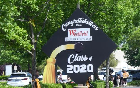 The parents of Roseville High worked with the City of Roseville to schedule a parade around the Westfield Galleria.