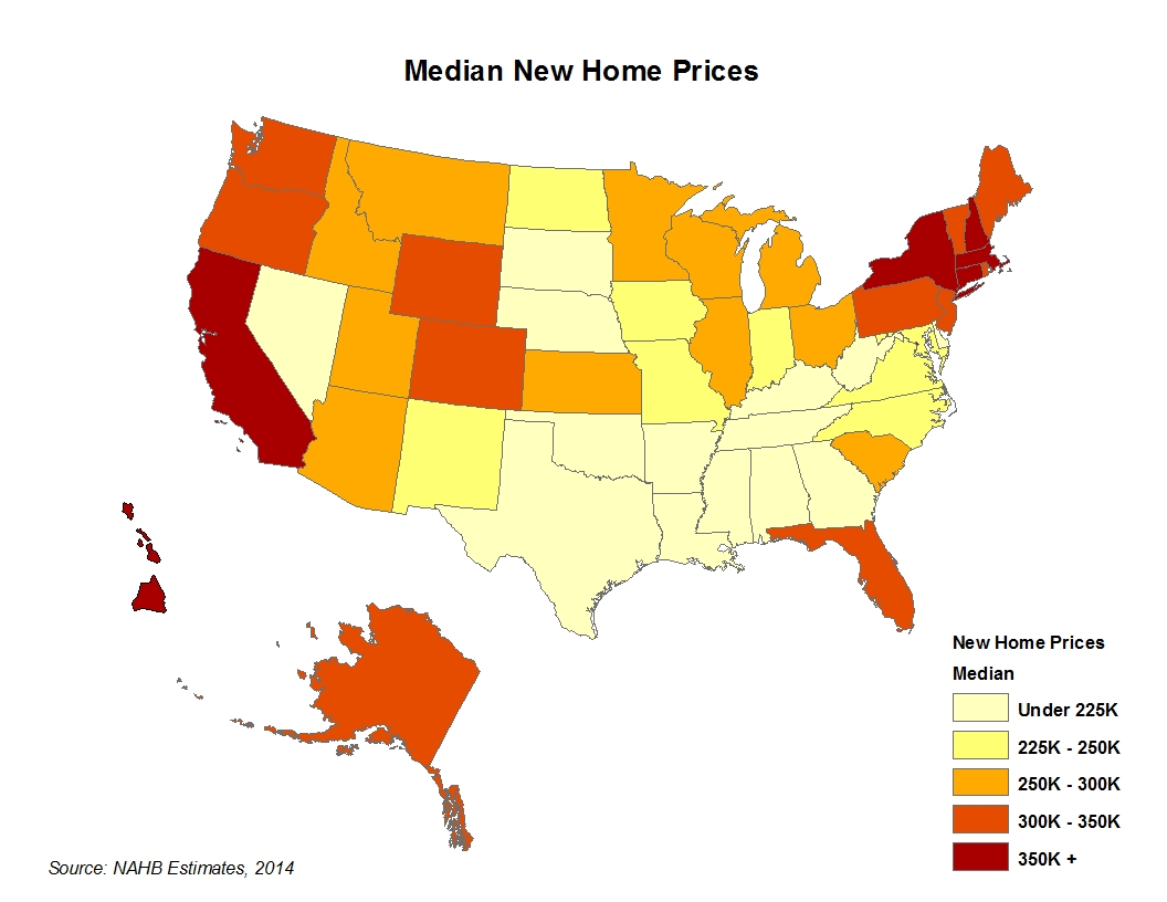 New home prices by metro area and state eye on housing for New house cost