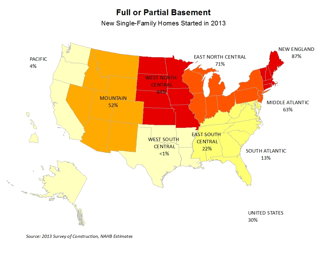 States With Basements