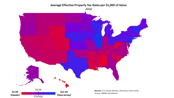 Property Taxes By State 2016 Eye On Housing