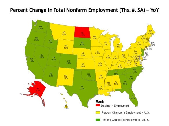 Job Growth Strongest Across States In The West And The South Eye