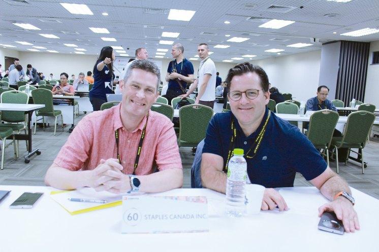 (Left) Staples Canada Senior Category Manager Scott Churchward. (Right) Staples Canada Director of Merchandising Mark Shanahan