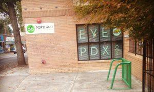 97202 optometrist bike parking at portland eye doctor office