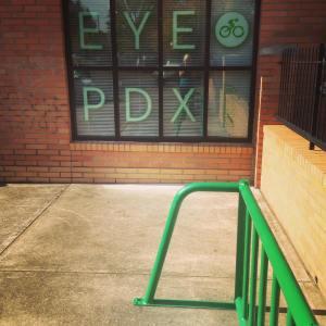 Bike Parking at Portland Eye Care