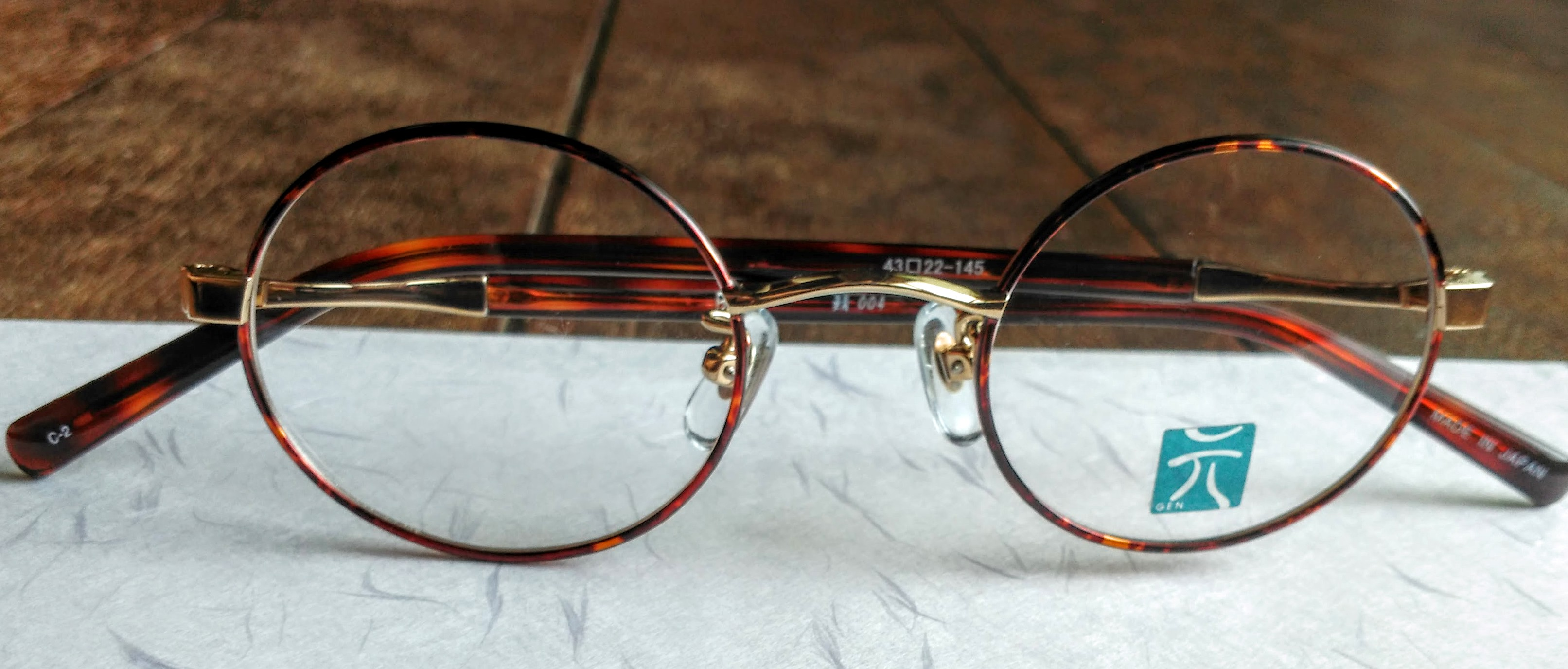 Handmade Japanese Glasses Frame: Titanium Frame Covered in Colored Acetate Wrapping