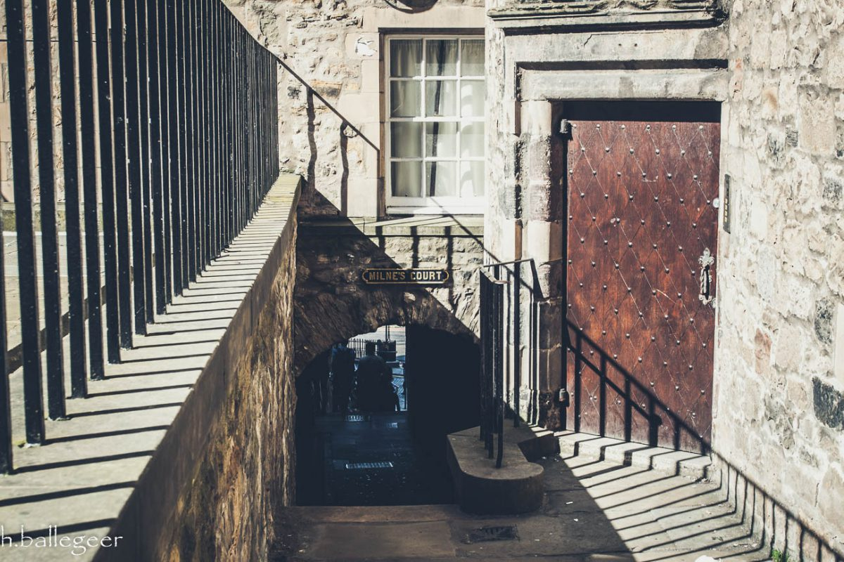 Lady Stairs Close in Edinburgh