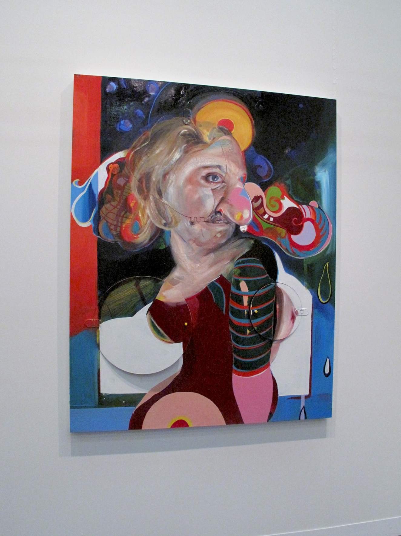 Acme Gallery, Los Angeles, Natalie Frank, oil painting on mixed media surface The Armory Show, New York, 2014, Pier 94