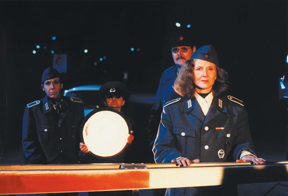 """Christoph Schlingensief, Film still, """"Das deutsche Kettensägen Massaker"""", 1990, MoMA PS1, NY, 2014"""
