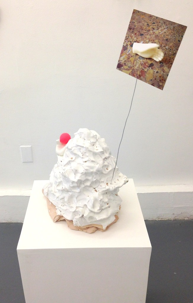 "Sara Megenheimer, Sculpture from ""Which arbitrary thing are you"", Cleopatra's, Brooklyn, 2014"