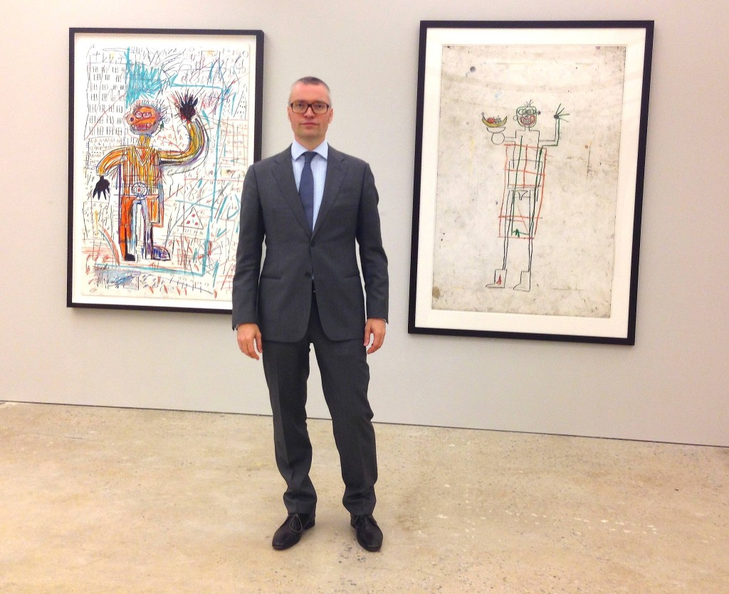 Curator, Dr. Dieter Buchhart at Nahmed Contemporary, New York, Photograph by Katy Hamer, 2014