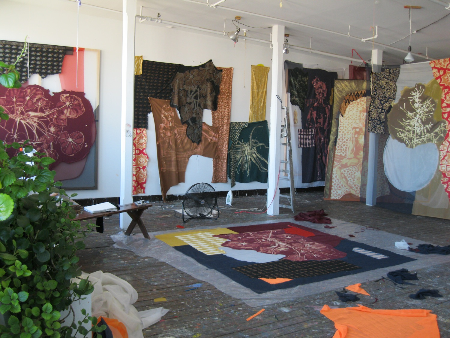 Lauren Luloff, Studio interior, Brooklyn, NY, image courtesy of the artist, 2014