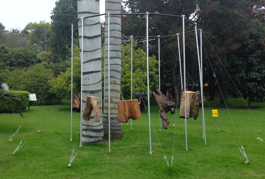 "German Botero, ""Tronco"" 2014, El Bosque Intervenido La Vision Del Bosque, Bogota, Photograph by Katy Hamer"